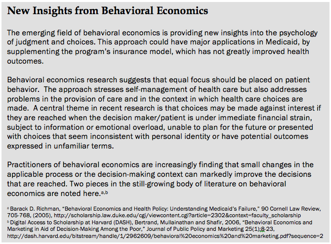 Sidebar Behavioral Economic