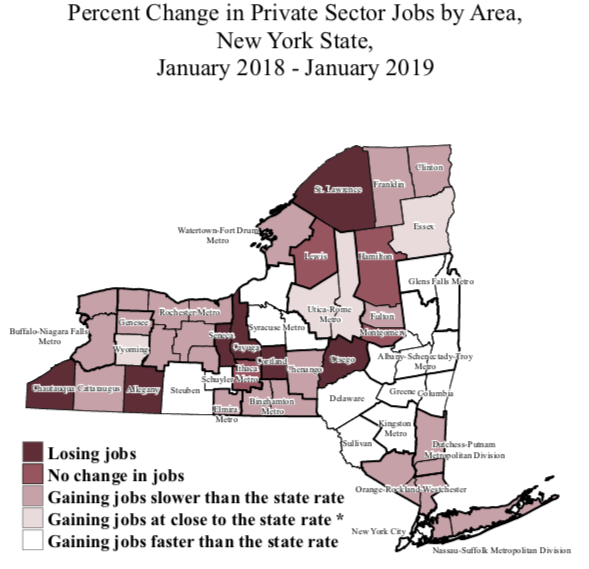 Jobs grow further apart in NY : Empire Center for Public Policy